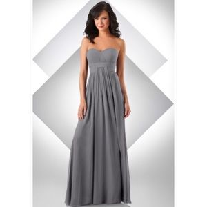 MOVING SALE Bari Jay Chiffon Formal Gray Dress